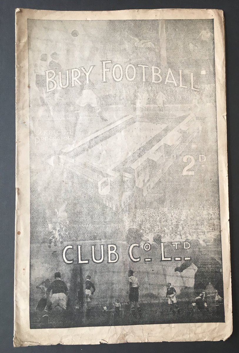 We've had some cracking fixtures with #BuryFC particularly in 'the old days' even an #FaCupFinal (we lost obvs)Great club, can't be allowed to die. Owner must go now. Agree with @forever_bury #DaleOut#SaintsProgs #SaintsFC #Bury @collectfootball @MemorabiliaMal @ArchiveSaints