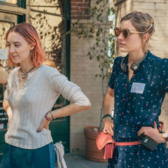 Greta Gerwig and Saoirse Ronan. I don't know a better duo. <br>http://pic.twitter.com/zwq80FsrjM