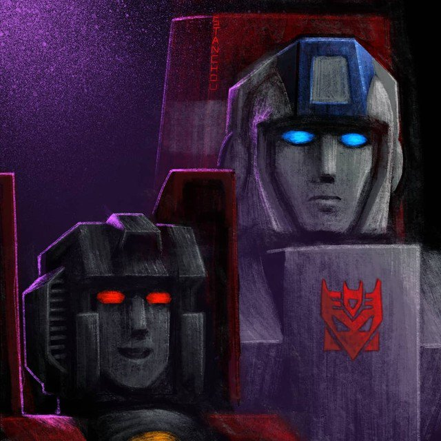 Reposting: @artiststan  -  As promised: #Starscream and #Skyfire , shown here as decepticon comrades.Boosted Starscream's height so I could zoom in more and create more of a sense of friendship.#g1starscream#g1skyfire #transformersstarscream#transformersskyfire