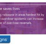 Image for the Tweet beginning: Dispensing #naloxone in areas hardest