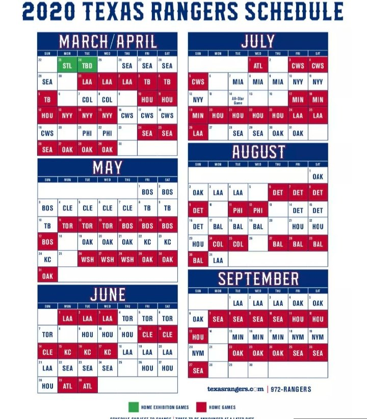 Cws 2020 Schedule.The Dallas Power Hour On Twitter The Mlb Has Released The