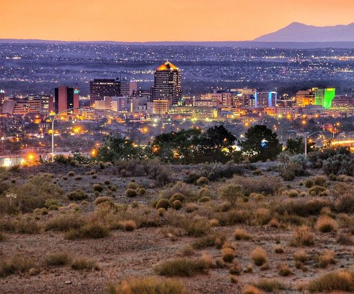 A city begins to wake up just beyond the horizon  . [ @theamericanskyline ] . Get your photo featured by using the hashtag #abqlivephotooftheday . #abqlive #photooftheday #potd #newmexico #landofenchantment  #albuquerque #abq #nm #skyline #downtown #citypic #newmexicophotopic.twitter.com/c8SDwZvWHE