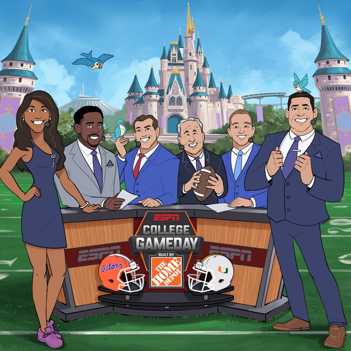 .@CollegeGameDay will have a magical start to the college football season ✨ The show will be live from Magic Kingdom at @WaltDisneyWorld for Week 0.