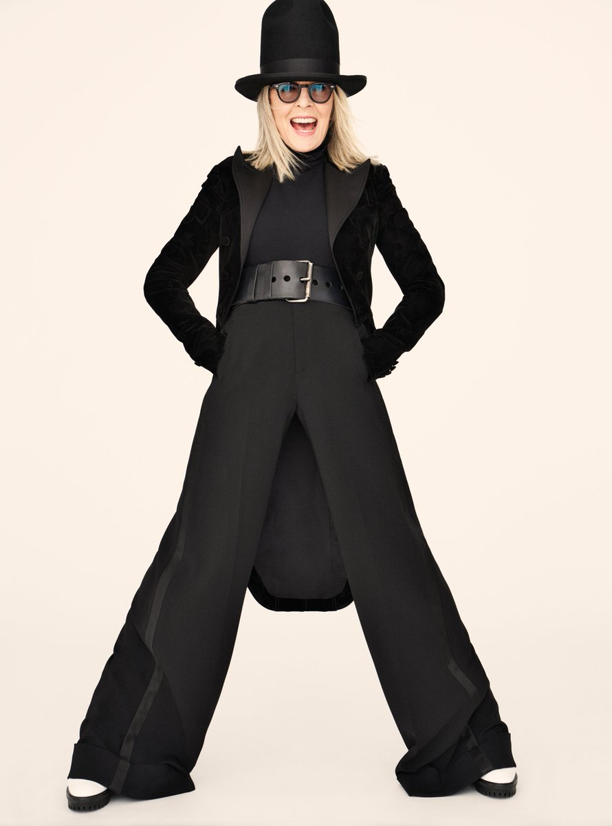 .@Diane_Keaton wears a tailcoat jacket and tuxedo pant from Ralph Lauren Collection in the August issue of @InStyle. #RalphLauren #RLEditorials #RLCollection