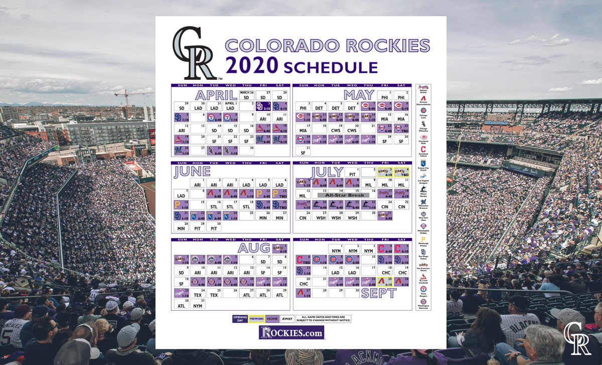 Rockies Home Opener 2020.Colorado Rockies On Twitter Start Mapping Out Your Summer