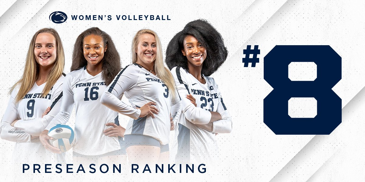 We check in at #8⃣ in the 2019 @AVCAVolleyball Preseason Division I Coaches Poll #WeAre