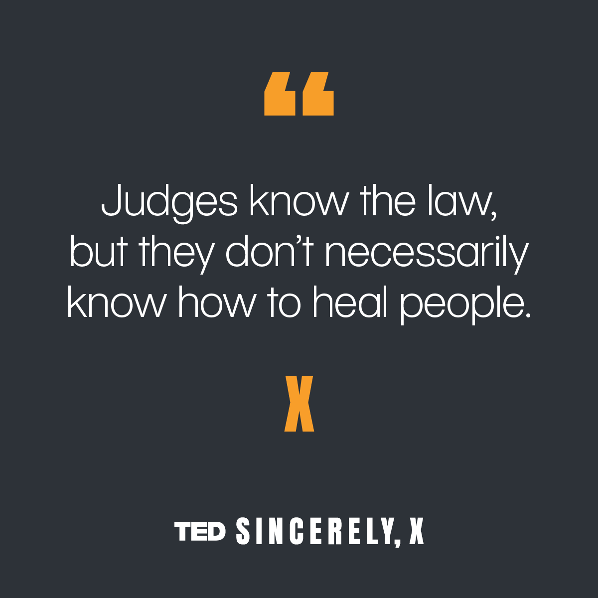 Listen to IJ's @sujathabaliga on the recent #SincerelyX episode by @TEDTalks where she talks abt how #RestorativeJustice creates space for #Healing & #Accountability. The episode is available on @hearluminary.