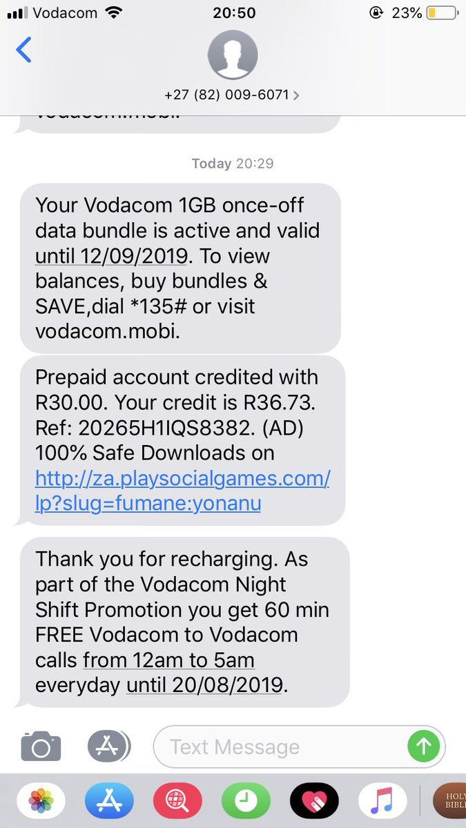Hey @Vodacom you are the worst cellular provider ever :)  Here's proof :)  Notice the times of the messages and my internal clock. I hate you :)