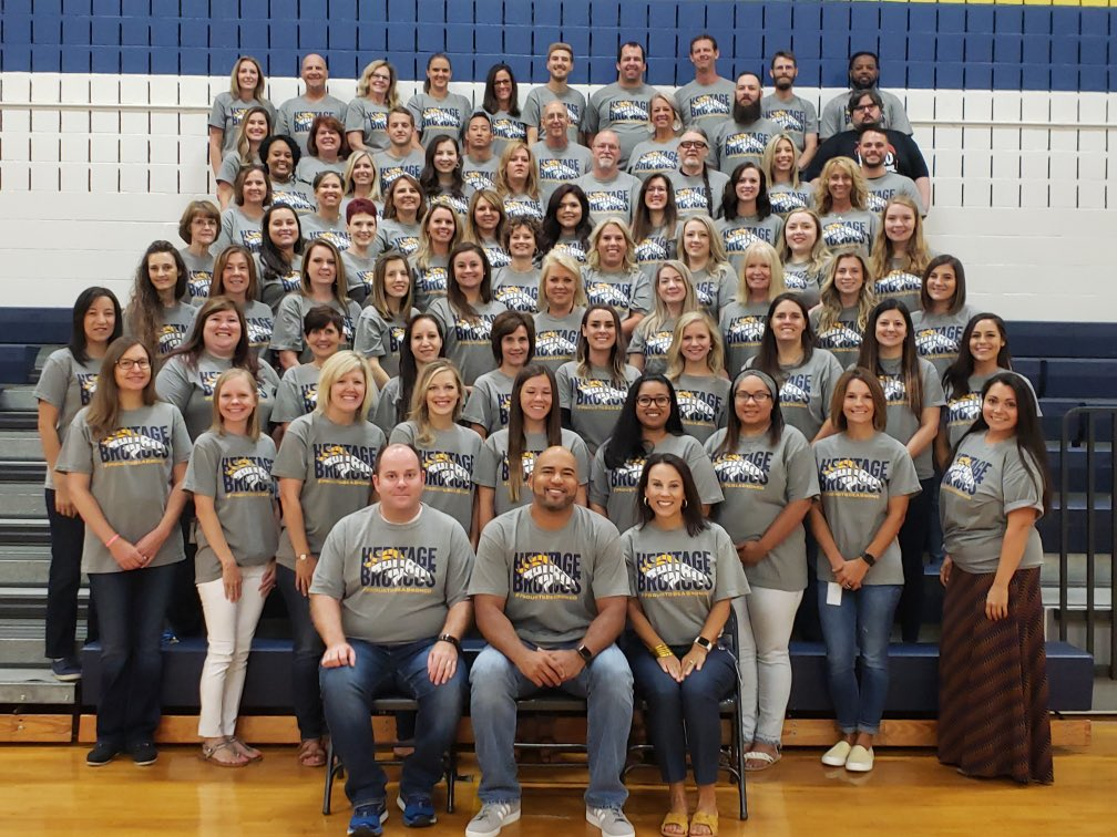 The BEST staff ever! #wearegcisd #back2gcisd #proudtobeabronco