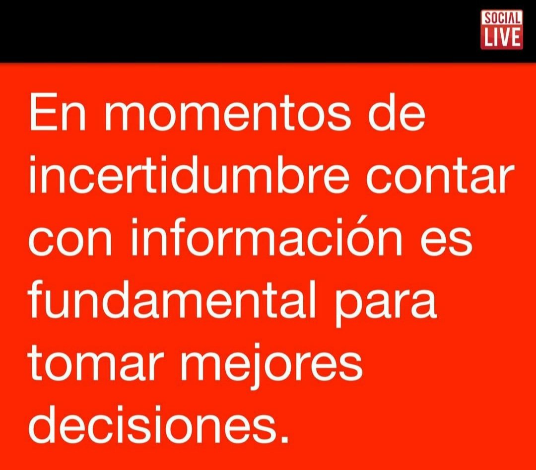 Mejor informados tomamos mejores decisiones.  #BigData #SocialMediaAnalytics https://t.co/acK6XIf1G3
