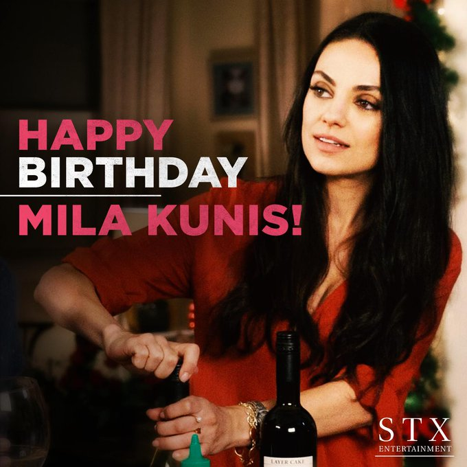 Happy Birthday to the baddest mom, Mila Kunis!