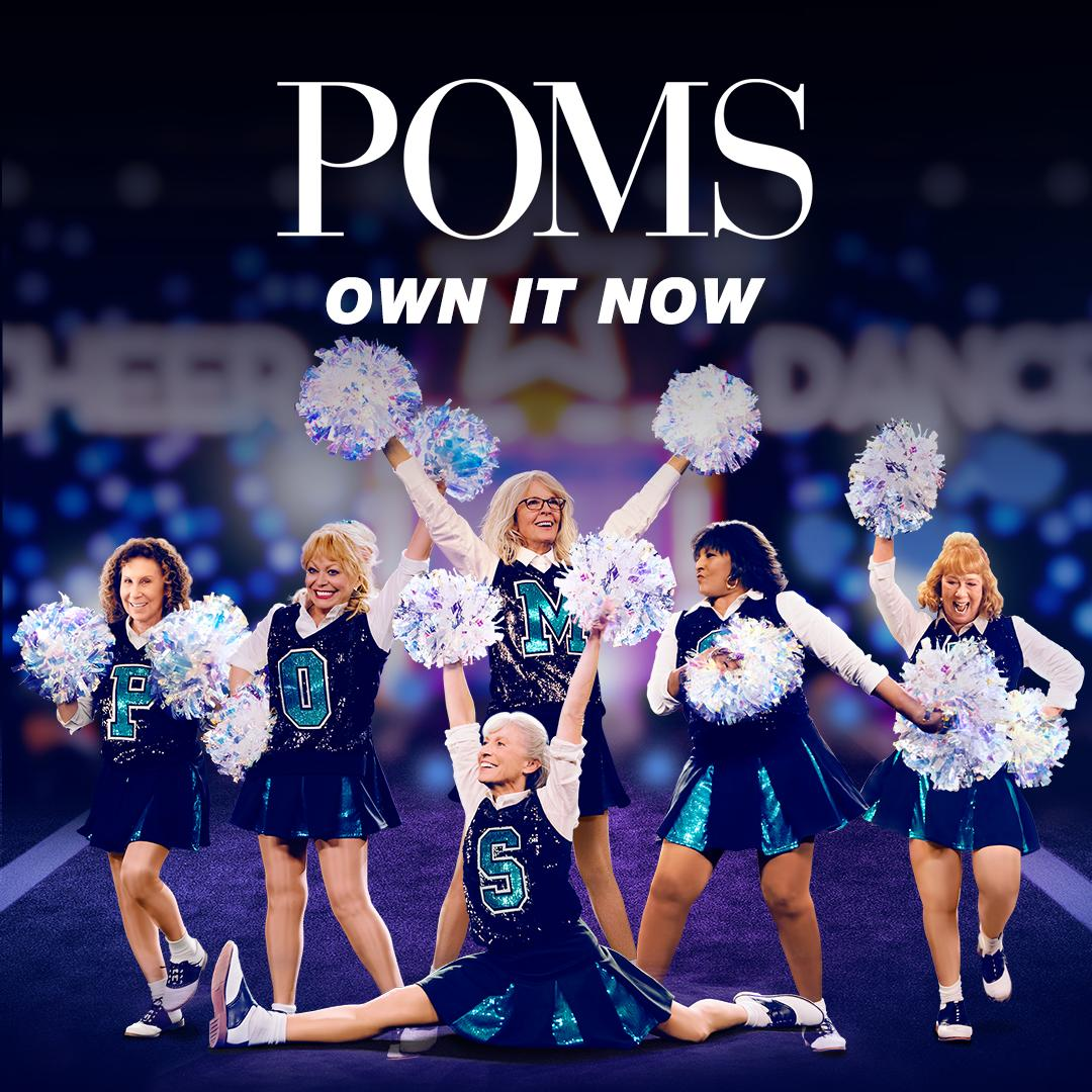 What are you waiting for? Give yourself a reason to cheer and get #POMSMovie, now on Digital HD, Blu-ray and DVD! https://t.co/WcMUrA3fox https://t.co/sRkjQXFbRx