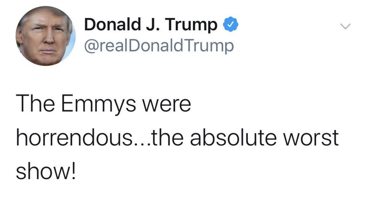 Hey  #EmmylessDonald. The Emmys were not horrendous for me! Have I mentioned I have a hit feature film???  http:// apple.co/2yrdahl    <br>http://pic.twitter.com/X3Tbt6Nr4U