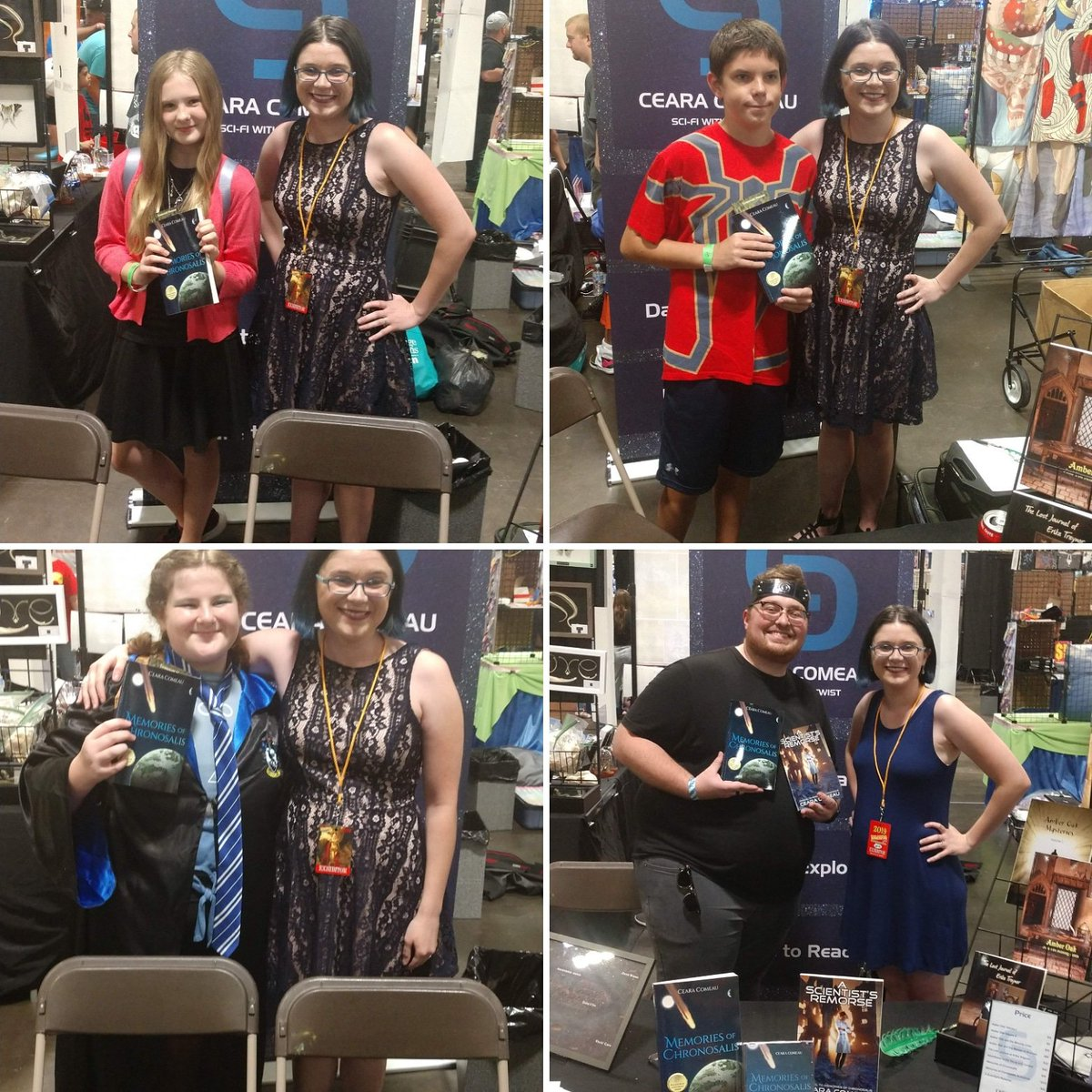 I now have fans in Florida! Tampa Bay Comic Con didn't disappoint! :) #bestpart #event #tampabaycomiccon #untilnextyear #newfans #friends #nextgeneration #scifi #fantasy #authorslife #writerslife #readers<br>http://pic.twitter.com/PML2tIiGFs