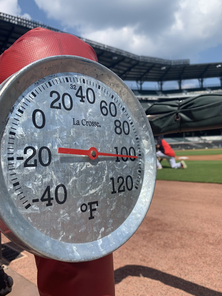 🔥🔥 at SunTrust Park - Braves and Mets lucky it's a 7:20 p.m. first pitch