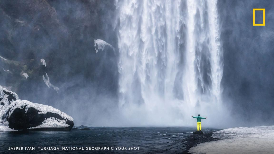 Your Shot photographer Jasper Ivan Iturriaga made this photograph while facing the Skógafoss waterfall in Skógar, Iceland. https://on.natgeo.com/2ZbfnMV