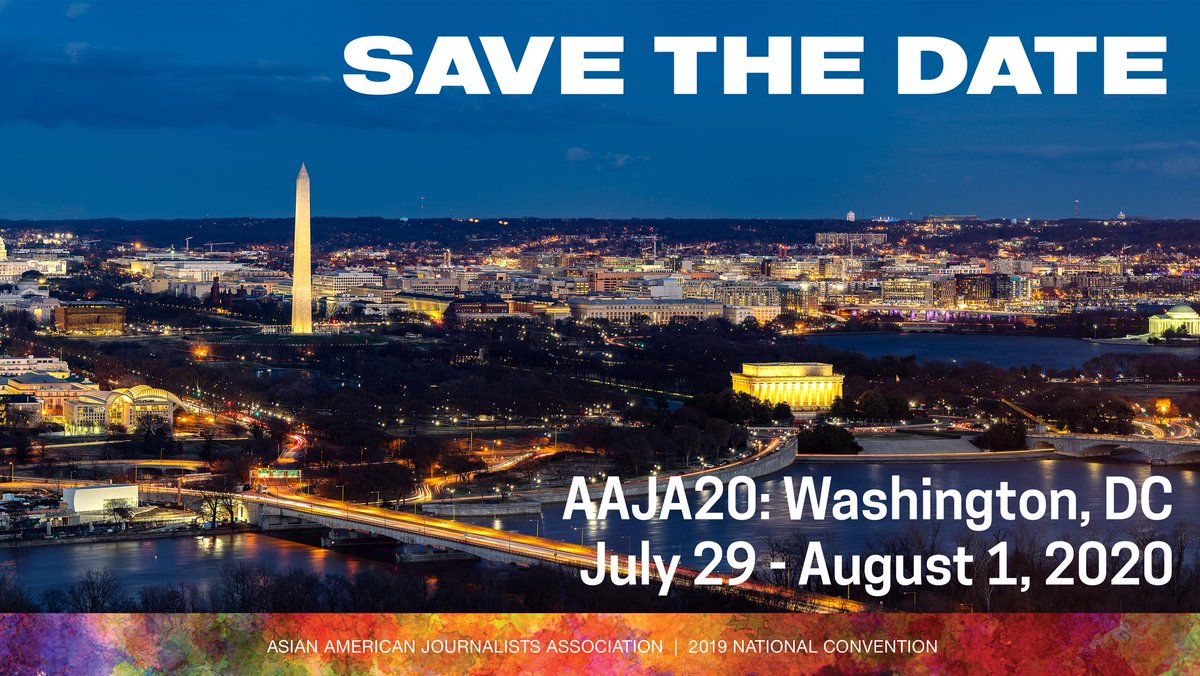 Save the date for #AAJA20: July 29-August 1, 2020 in #WashingtonDC! aaja.org/aaja20_announc…