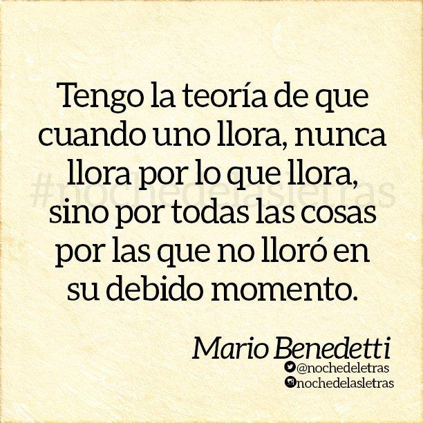 Noche De Las Letras On Twitter Frases Mariobenedetti