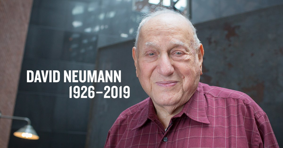 David Neumann was born in Noerdlingen, Germany, where his family had lived for centuries. Fearing for their safety after the Nazis came to power, David and his family immigrated to Palestine in 1935 and rebuilt their lives. #HolocaustSurvivor ushmm.org/remember/holoc…