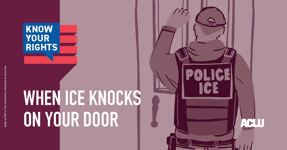 When ICE Knocks on Your Door. #KnowYourRights #ICERaids <br>http://pic.twitter.com/0zDciSehUl