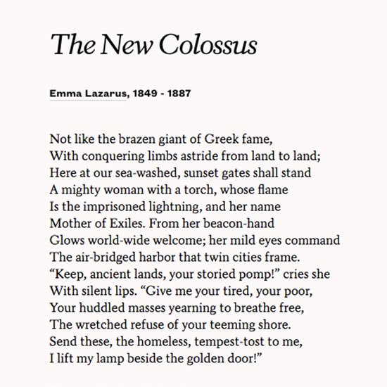 It appears this bears repeating, and sharing  #TheNewColossus #StatueofLiberty #EmmaLazarus <br>http://pic.twitter.com/5Ika0hFvNK