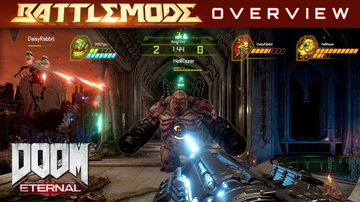 RT @DOOM: Enter the arena in DOOM Eternal's BATTLEMODE, a new 2-v-1 multiplayer mode. https://t.co/uoyljRe4jA