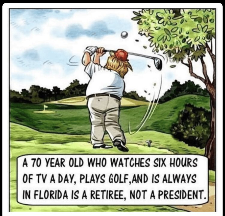 Trump's dream job is to be a Television critic, why is he POTUS? #Retire