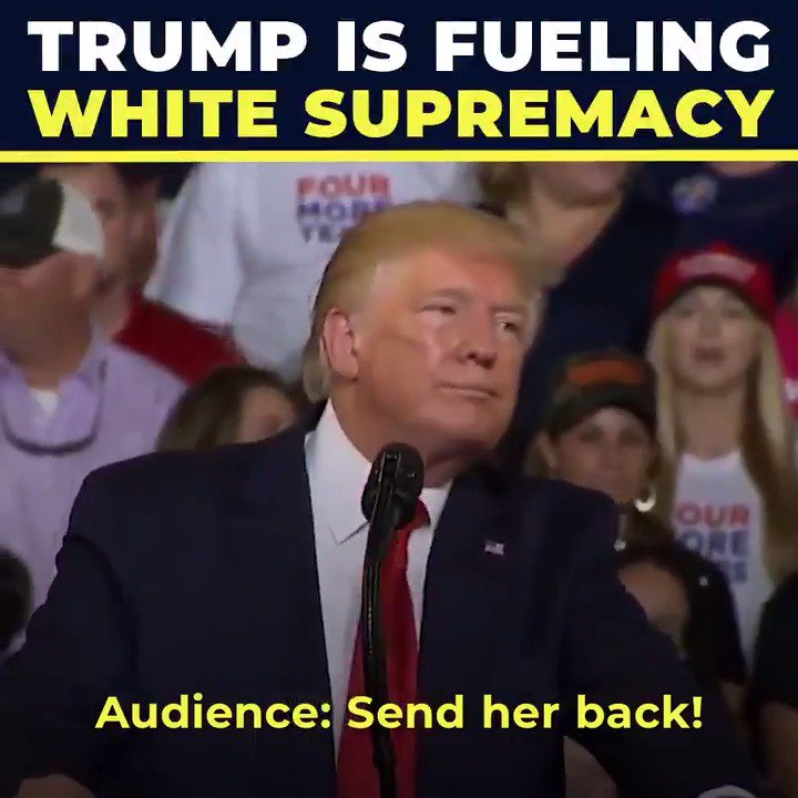 """Do you think it's a coincidence that the racist manifesto of the El Paso shooter echoes Trump's language of """"invasion"""" and """"infestation"""" of immigrants? I don't. @realDonaldTrump is fanning the flames of white supremacy. We must stop him."""