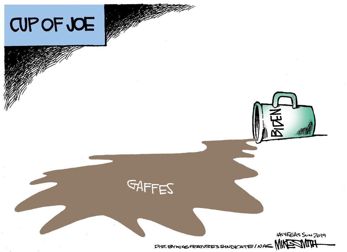 Editorial cartoon: Biden's gaffes.  https://lasvegassun.com/news/opinion/smiths-world/…