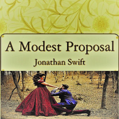 Um, I'm not convinced the people behind this audiobook cover art knew what A Modest Propsal is about...