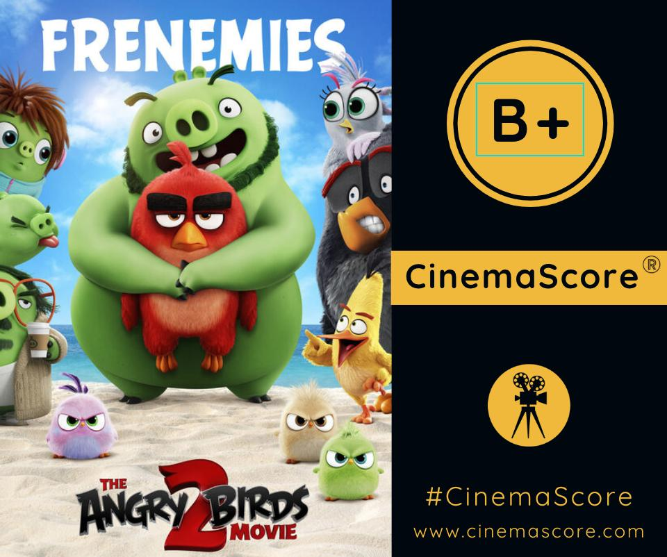 . @AngryBirdsMovie 2 received a B+ #CinemaScore grade from movie audiences! What did you think? Comment below 👇