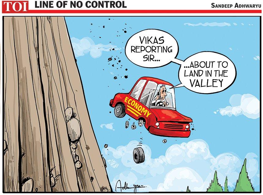 #cartoon @timesofindia #EconomicSlowdown