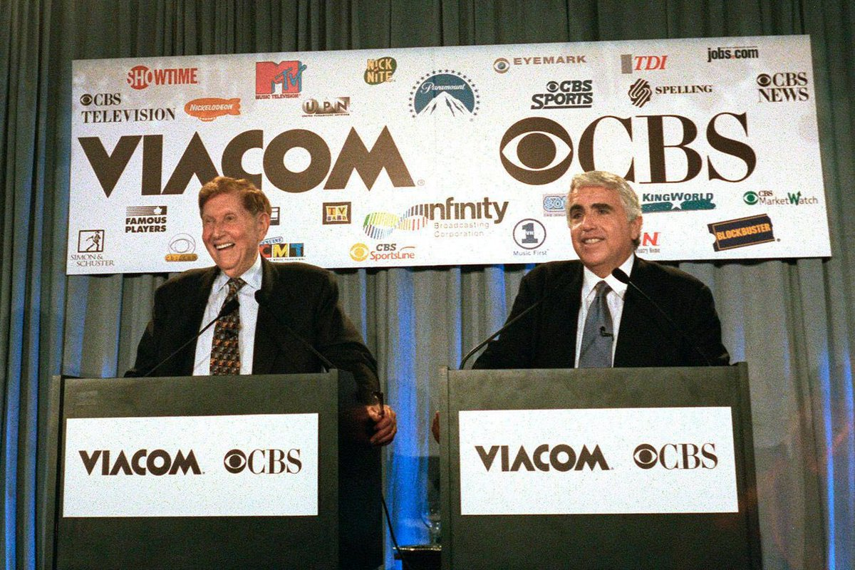 Back to the future... $VIAB $CBS #ViacomCBS  Remarkably intertwined history of these two companies... CBS spawned Viacom (then pronounced Vee-ah com), only to later be acquired by Viacom, then spun off, and now reunited. <br>http://pic.twitter.com/HTWSNzNtUN