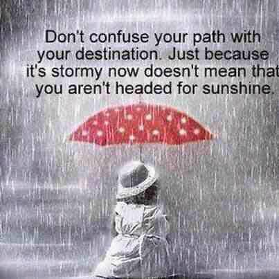A3. There will be stormy times ahead .... just wait ... the sunshine will appear :-) #PLN365