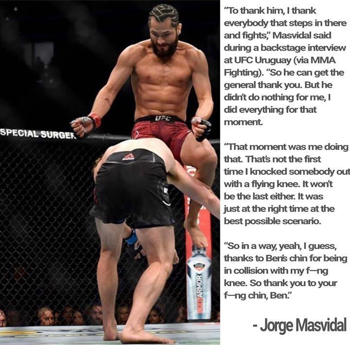 "#ufc fan favorite #fighter Jorge ""Gamebred"" Masvidal says that he has thanked former multi organization #MMA #champion Ben Askren before their #fight at #ufc239 and after! 😛  #ufc241 #wrestling #boxing #bellator225 https://ift.tt/2r1Pv4u #bjj #mma #boxing #wrestling #ufcfi…"