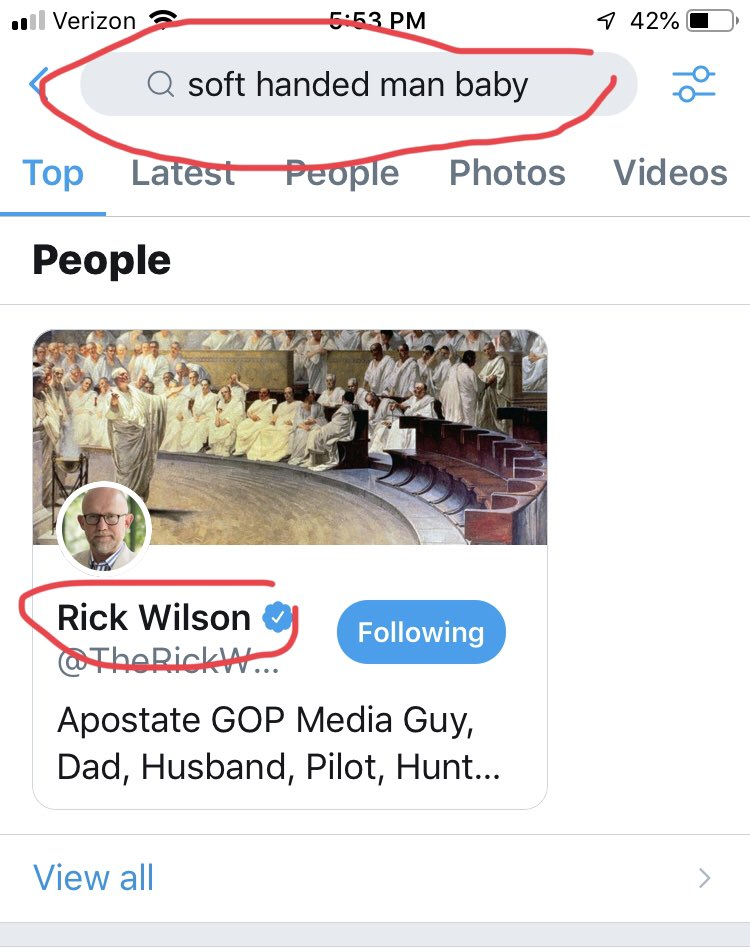 @TheRickWilson Saw it on Twitter and just knew it was you