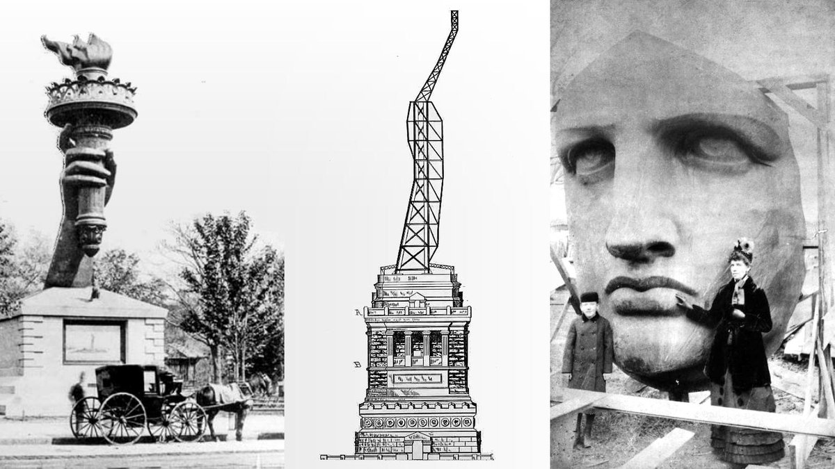 """#EmmaLazarus' poem literally helped create the #StatueofLiberty's foundation. She wrote the poem to raise funds to build its pedestal. We are making the movie """"Raising Liberty: The Construction of the Statue of Liberty as Reconstruction Was Under Attack""""   https:// medium.com/@goaloop/raisi ng-liberty-1235946119aa  … <br>http://pic.twitter.com/o3ZV7OSgQ1"""