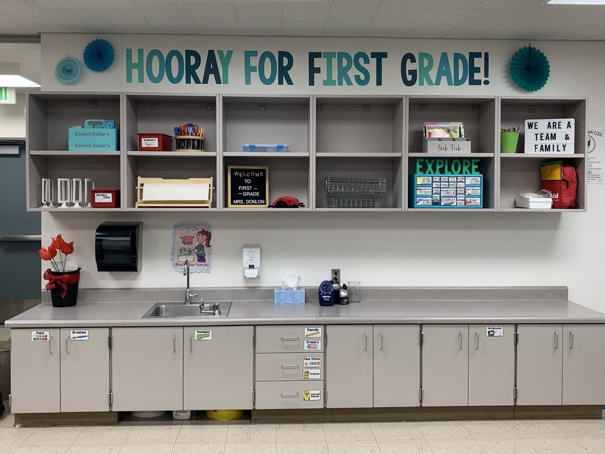 Hooray for first grade!! Excited to meet my first graders tomorrow! ✨❤️ #usdlearns