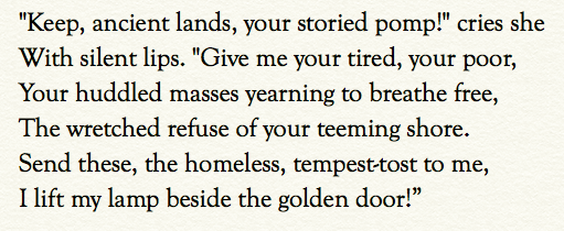 Here is the entire passage as written by Emma Lazarus. Mr. Cuccinelli's interpretation has no basis. <br>http://pic.twitter.com/oBHRQDAvgR