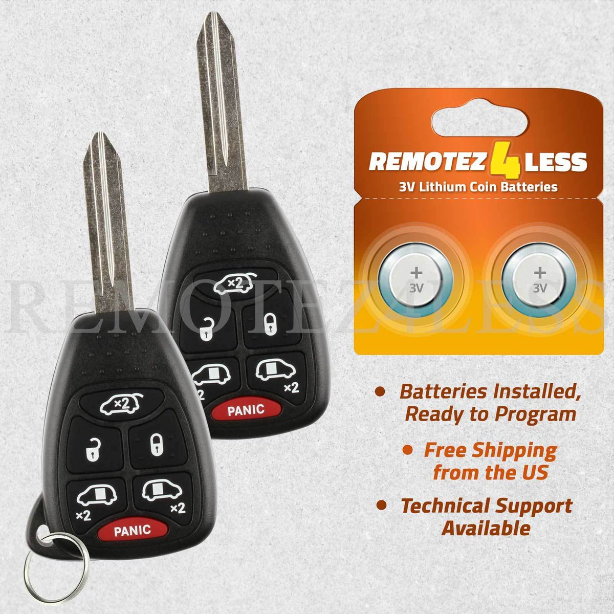 Car Transmitter Remote Key for 2004 2005 2006 2007 Chrysler Town and Country 6b
