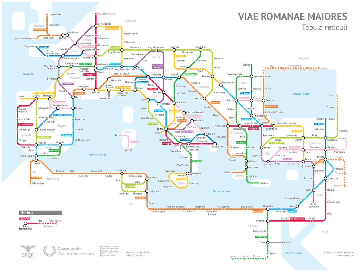 Izmir Subway Map.Weird History On Twitter The Roman Empire As A Subway Map By