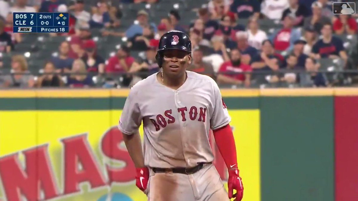 Rafael Devers:  6-6 4 doubles 3 RBI  Never been done before in the league