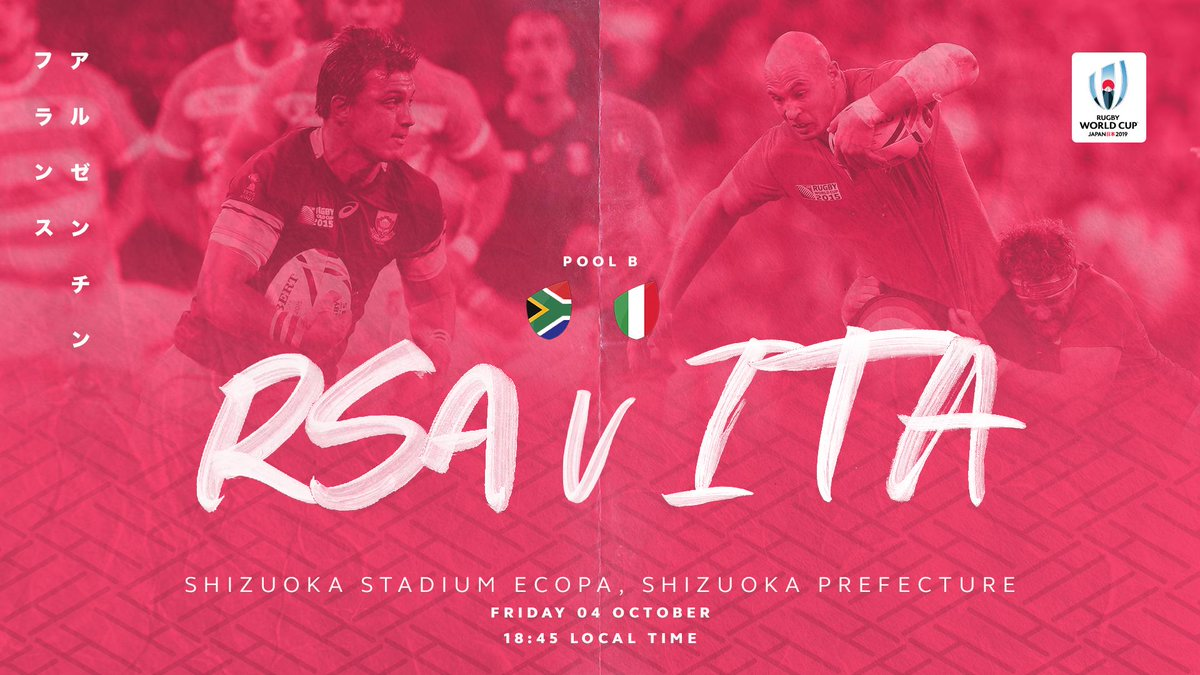 test Twitter Media - A huge game in Pool B at Rugby World Cup 2019.   The atmosphere in Shizuoka will be electric.  Limited tickets available: https://t.co/wiftbbRu2B   #RWC2019 https://t.co/klHrIV7Y4u