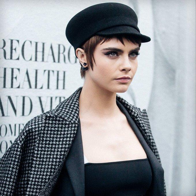 **Happy 27th Birthday Cara Delevingne** [in Dior during Paris Fashion Week 2018]