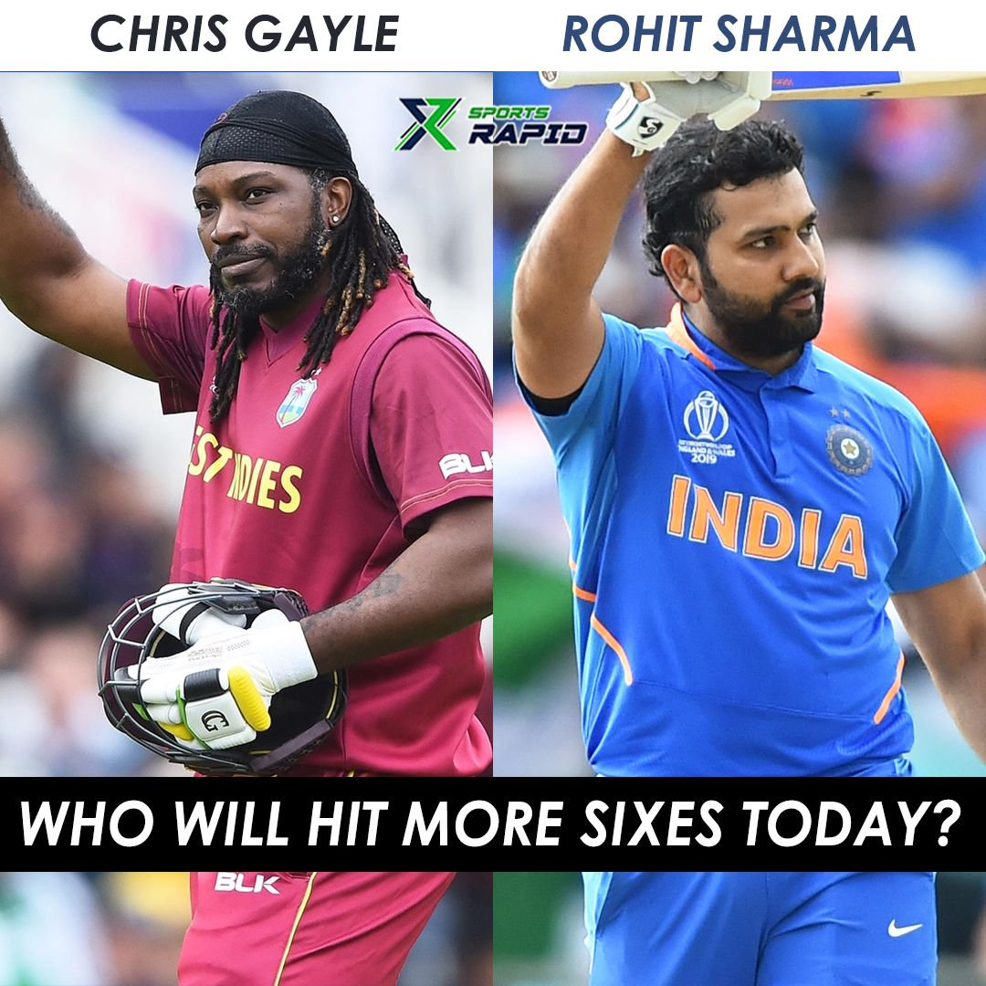 Whose side will you take today? Rohit Sharma or Chris Gayle?#indvswi #rohitsharma #viratkohli #cricket #teamindia #msdhoni #ashes #indiancricketteam #kanewilliamson #joeroot #cricketaustralia #benstokes #davidwarner #abdevilliers #devilliers #stevesmith #mitchellstarc