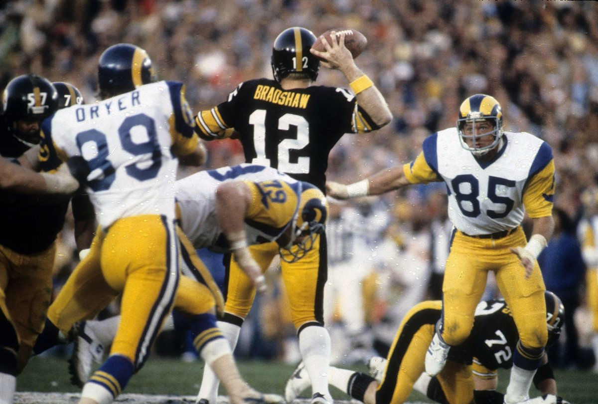 Maybe @RamsNFL can wear white road throwbacks in honor of 40th anniversary of SB XIV? @Dameshek - #RamsCountry needs your help! No one wants to see Rams current white unis in #NFL100 vs Steeler throwbacks! twitter.com/TflSteelers/st…