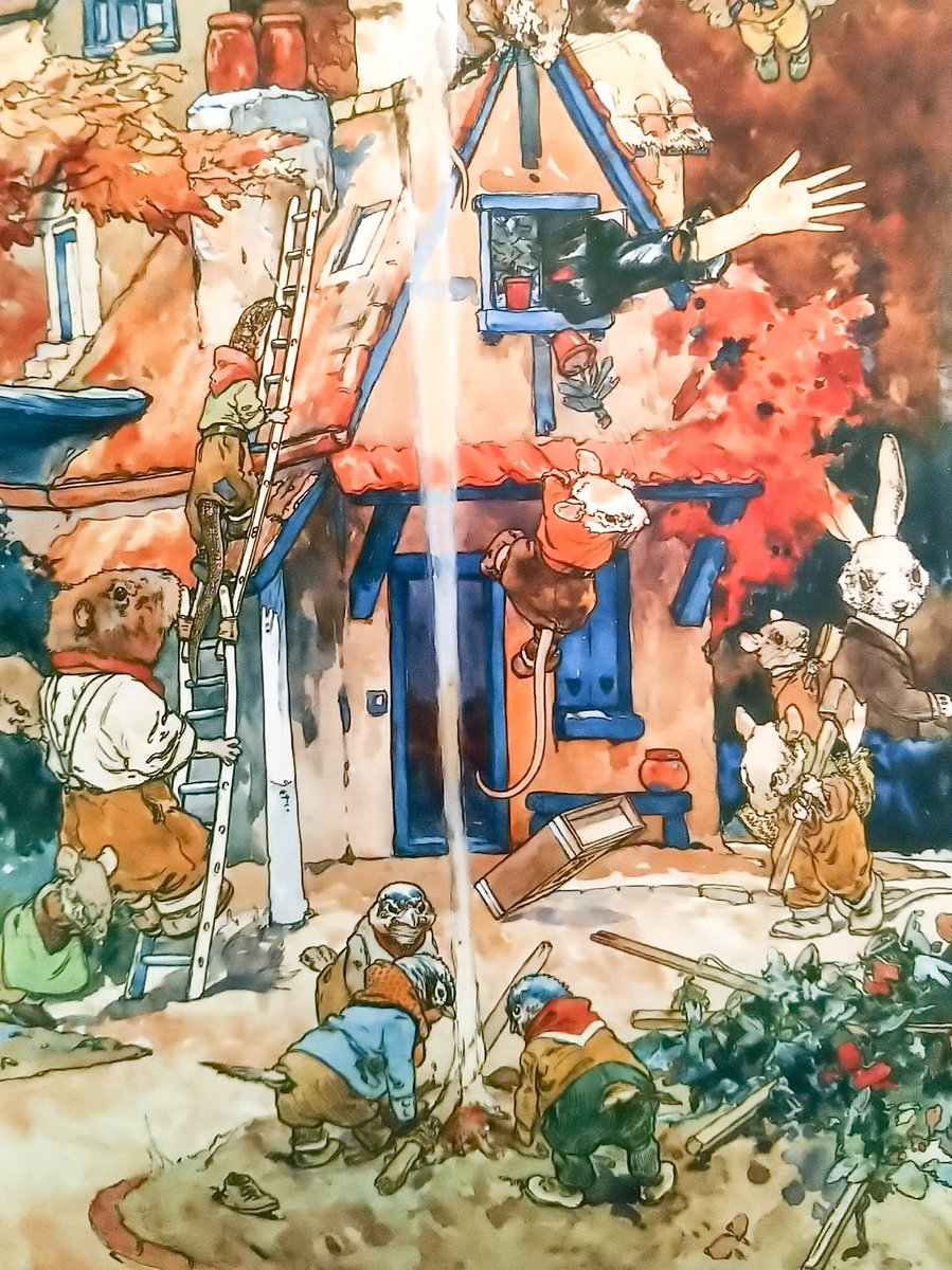 """#BookIllustrationOfTheDay is by Harry Rountree for Lewis Carroll's """"Alice's Adventures in Wonderland"""" (1908). Although prolific, illustrating many books, this once much-loved NZ illustrator died in poverty in Cornwall. I love how this scene is all about everything *except* Alice! <br>http://pic.twitter.com/FwYt5FMOhD"""