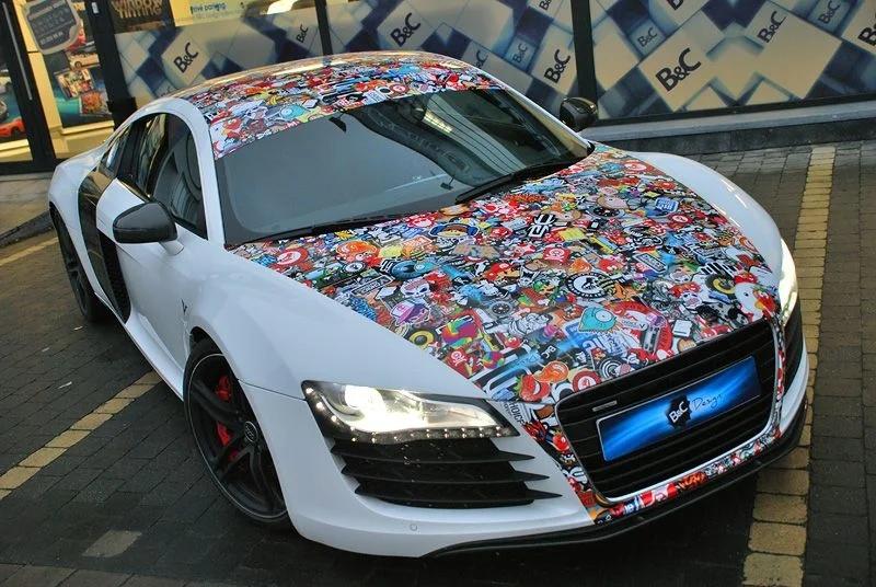 живописных стикеры на машину фото обыкновенная