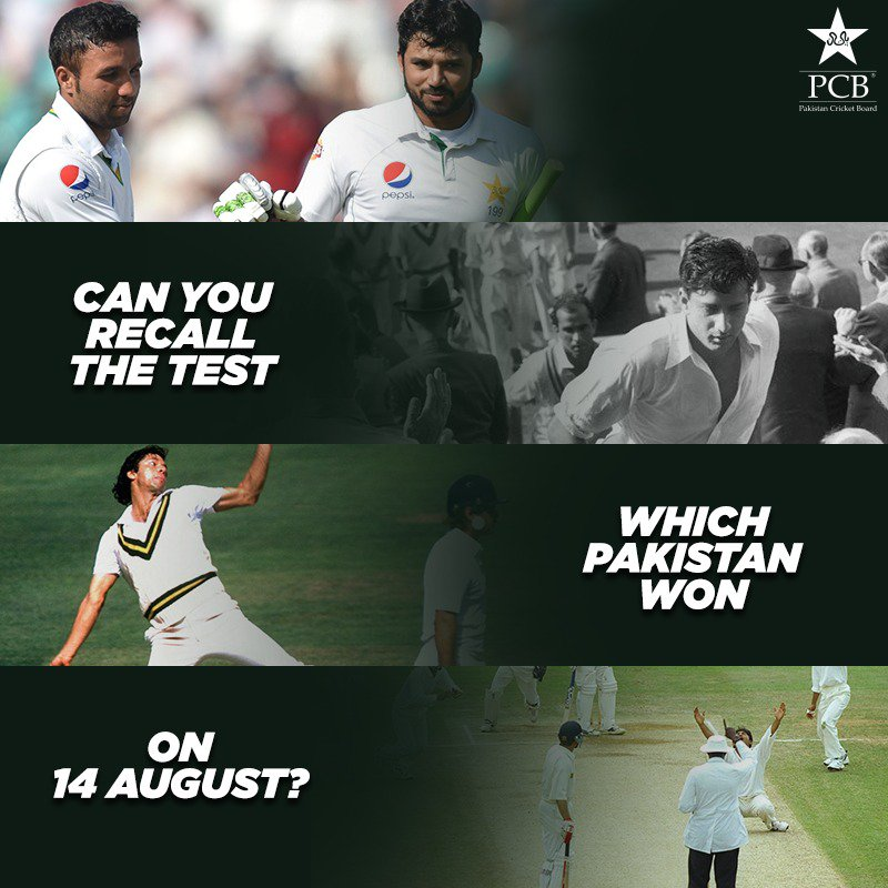 Can you recall the Test which Pakistan won on 14 August?#IndependenceDay