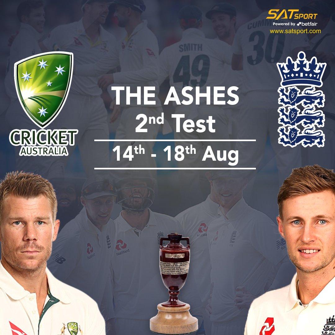 The Ashes begin today! #England vs #Australia 2st #TestLink : http://www.satsport.com. #TheAshes #Ashes2019 #ENGVSAUS #DavidWarner #Ashes #testchampionship #AUSVSENG #INDVWI #SLVNZ #england #TestMatch #tnpl2019 #t20blast #livecasino #SportBetting #CricketBetting #SatSport